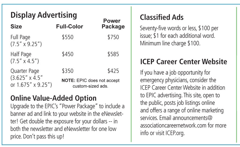 Display & Classified Advertising - Illinois College of Emergency
